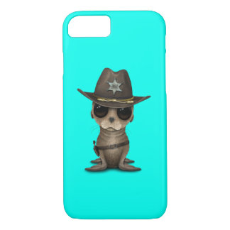 Cute Baby Sea Lion Sheriff iPhone 8/7 Case