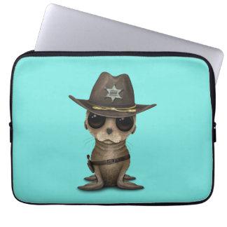 Cute Baby Sea Lion Sheriff Laptop Sleeve