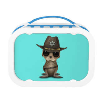 Cute Baby Sea Lion Sheriff Lunch Box