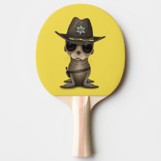 Cute Baby Sea Lion Sheriff Ping Pong Paddle