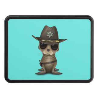 Cute Baby Sea Lion Sheriff Trailer Hitch Cover