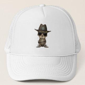 Cute Baby Sea Lion Sheriff Trucker Hat