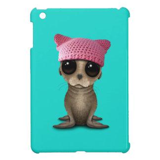 Cute Baby Sea Lion Wearing Pussy Hat iPad Mini Case
