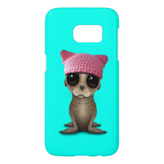 Cute Baby Sea Lion Wearing Pussy Hat Samsung Galaxy S7 Case