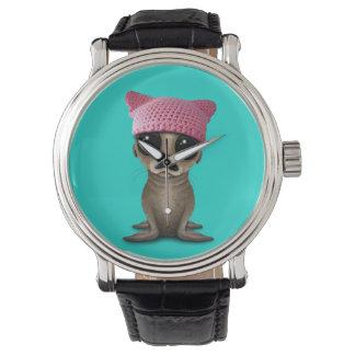 Cute Baby Sea Lion Wearing Pussy Hat Watch
