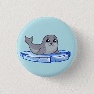 Cute baby seal cartoon 1 inch round button