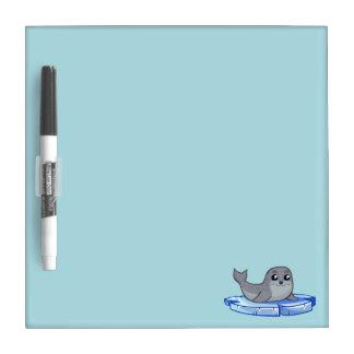 Cute baby seal cartoon kids dry erase white board