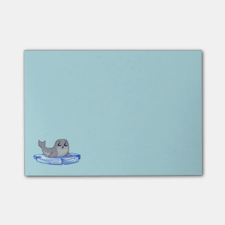 Cute baby seal cartoon kids post-it notes