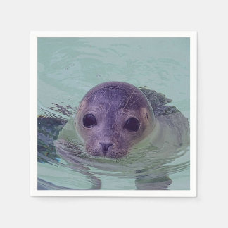 Cute Baby Seal Disposable Napkins