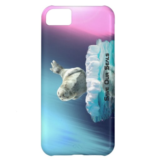 Cute Baby Seal Fantasy Art Wildlife Supporter iPhone 5C Cases