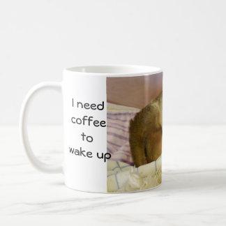 Cute Baby Sloth Yawns-I Need Coffee Coffee Mug