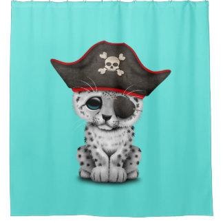 Cute Baby Snow Leopard Cub Pirate