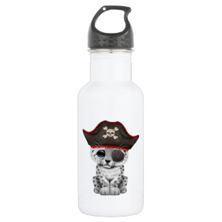 Cute Baby Snow Leopard Cub Pirate 532 Ml Water Bottle
