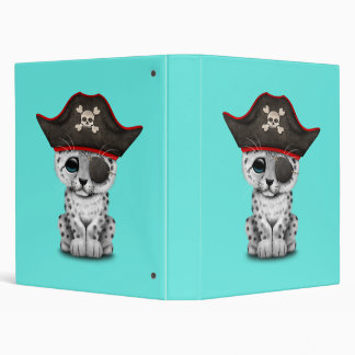 Cute Baby Snow Leopard Cub Pirate Binders