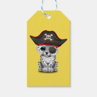 Cute Baby Snow Leopard Cub Pirate Gift Tags