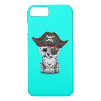 Cute Baby Snow Leopard Cub Pirate iPhone 8/7 Case
