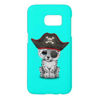 Cute Baby Snow Leopard Cub Pirate Samsung Galaxy S7 Case