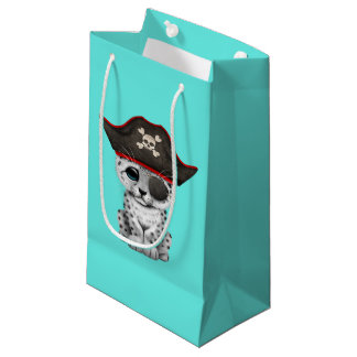 Cute Baby Snow Leopard Cub Pirate Small Gift Bag