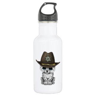 Cute Baby Snow Leopard Cub Sheriff 532 Ml Water Bottle