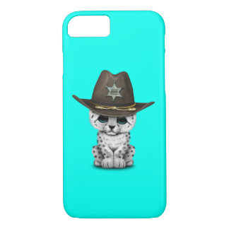 Cute Baby Snow Leopard Cub Sheriff iPhone 8/7 Case