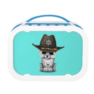 Cute Baby Snow Leopard Cub Sheriff Lunch Box