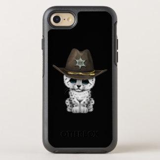 Cute Baby Snow Leopard Cub Sheriff OtterBox Symmetry iPhone 8/7 Case