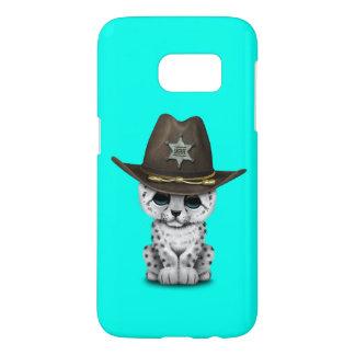 Cute Baby Snow Leopard Cub Sheriff Samsung Galaxy S7 Case