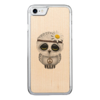 Cute Baby Snowy Owl Hippie Carved iPhone 8/7 Case