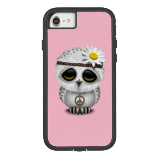 Cute Baby Snowy Owl Hippie Case-Mate Tough Extreme iPhone 8/7 Case