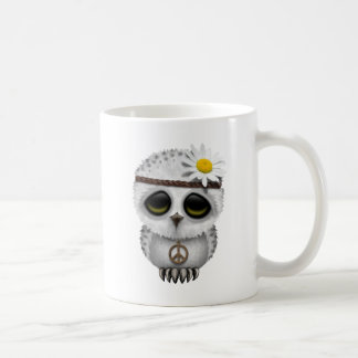 Cute Baby Snowy Owl Hippie Coffee Mug