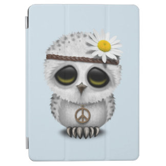Cute Baby Snowy Owl Hippie iPad Air Cover