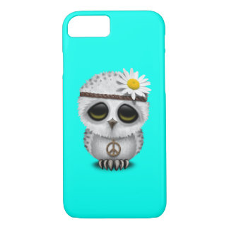 Cute Baby Snowy Owl Hippie iPhone 8/7 Case