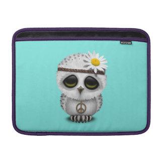 Cute Baby Snowy Owl Hippie MacBook Air Sleeves