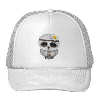 Cute Baby Snowy Owl Hippie Trucker Hat