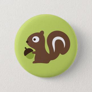 Cute Baby Squirrel Design 2 Inch Round Button