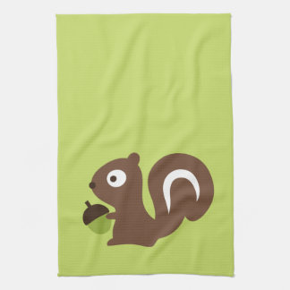 Cute Baby Squirrel Design Kitchen Towel