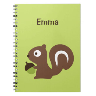 Cute Baby Squirrel Design Notebook