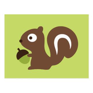 Cute Baby Squirrel Design Postcard