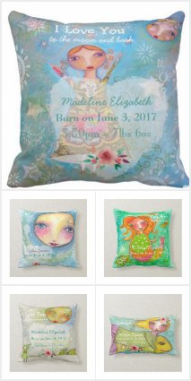 Cute Baby Stat Pillows