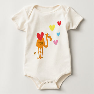 Cute Baby Suit with Camel Baby Bodysuit