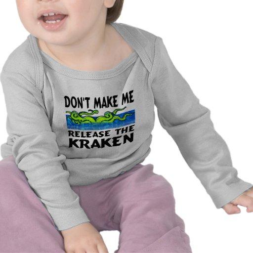 Cute baby t-shirt kraken
