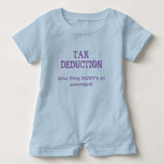 "Cute Baby ""Tax Deduction"" Daddy Accountant Quote Baby Romper"