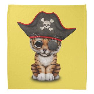 Cute Baby Tiger Cub Pirate Bandana
