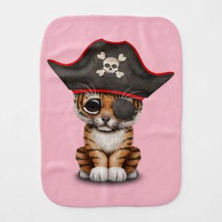 Cute Baby Tiger Cub Pirate Burp Cloth