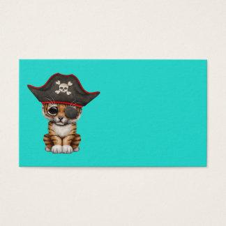 Cute Baby Tiger Cub Pirate Business Card