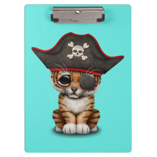 Cute Baby Tiger Cub Pirate Clipboard