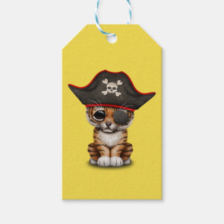 Cute Baby Tiger Cub Pirate Gift Tags