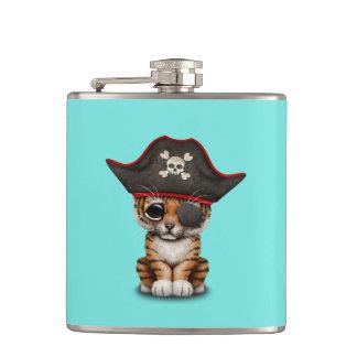 Cute Baby Tiger Cub Pirate Hip Flask