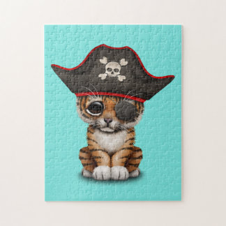 Cute Baby Tiger Cub Pirate Jigsaw Puzzle