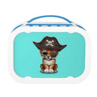 Cute Baby Tiger Cub Pirate Lunch Box